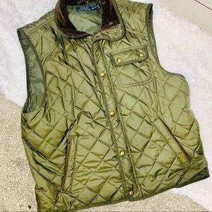 {POLO RALPH LAUREN} Olive Green Puffer Vest